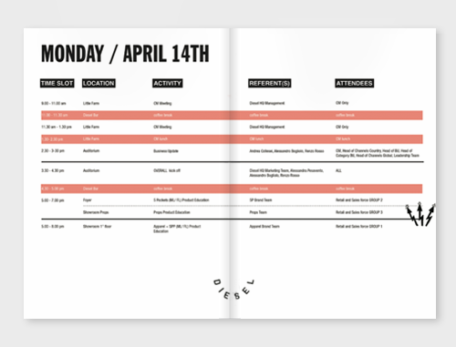 agenda pages